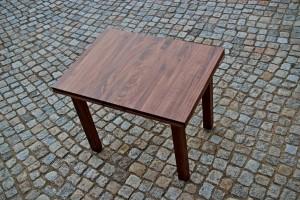 Aussziehtisch Massivholz Linoleum Esstisch Tischlerei Dresden