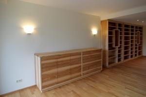 Wohnzimmer Bibliotheksmöbel Bücherregal Sideboard Notenschrank Esche Aktenschrank Tischlerei Dresden Massivholzmöbel