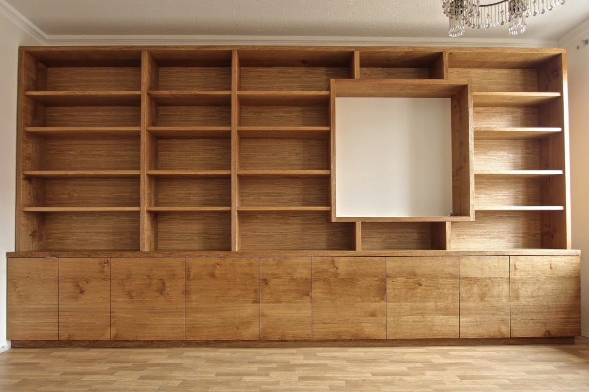 schrankwand aus eiche sinnesmagnet. Black Bedroom Furniture Sets. Home Design Ideas
