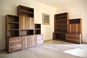 Bücherregal Aktenschrank Nussbaum Massivholzmöbel Tischlerei Dresden Praxismöbel Büro