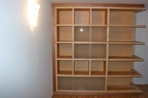 Regalwand Bücherregal Massivholz Einbaumöbel Tischlerei Dresden Esche Bibliotheksmöbel Schrankwand