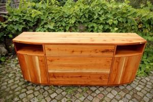 Eibe Sideboard Highboard Flurmöbel Massivholz Tischlerei Dresden HIFI Phonoschrank für Stereoanlage