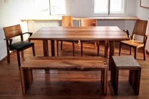 Massivholztisch Hocker Stuhl Bank Tischlerei Dresden Holz Möbel