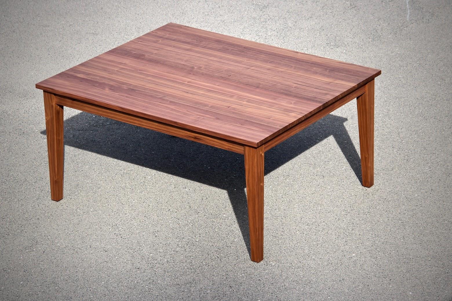 esstisch 130x160cm aus nussbaum ausziehbar um 2x50cm auf 130x260cm sinnesmagnet. Black Bedroom Furniture Sets. Home Design Ideas