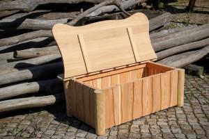 Holz und Holz Truhe für Sitzauflagen Garten Möbel Dresden Außenbereich Gartengestaltung