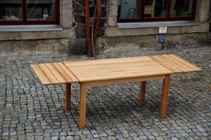 Gartentisch Ausziehtisch Garten Möbel Tischverlängerung Ansteckplatte Möbeltischlerei Dresden