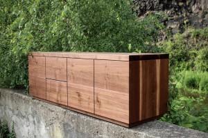 Nussbaum Möbel lowboard als tv möbel aus amerikanischen nussbaum sinnesmagnet