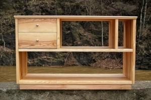HiFi-Möbel Regal Sideboard Massivholzmöbel Dresden Rack für Stereoanlage