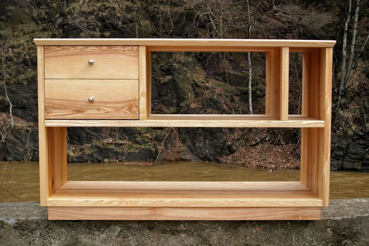 m bel aus esche f r stereoanlage sinnesmagnet. Black Bedroom Furniture Sets. Home Design Ideas