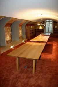 Sonderanfertigung Konferenztisch Design Büromöbel Massivholz Möbel Tischlerei Dresden