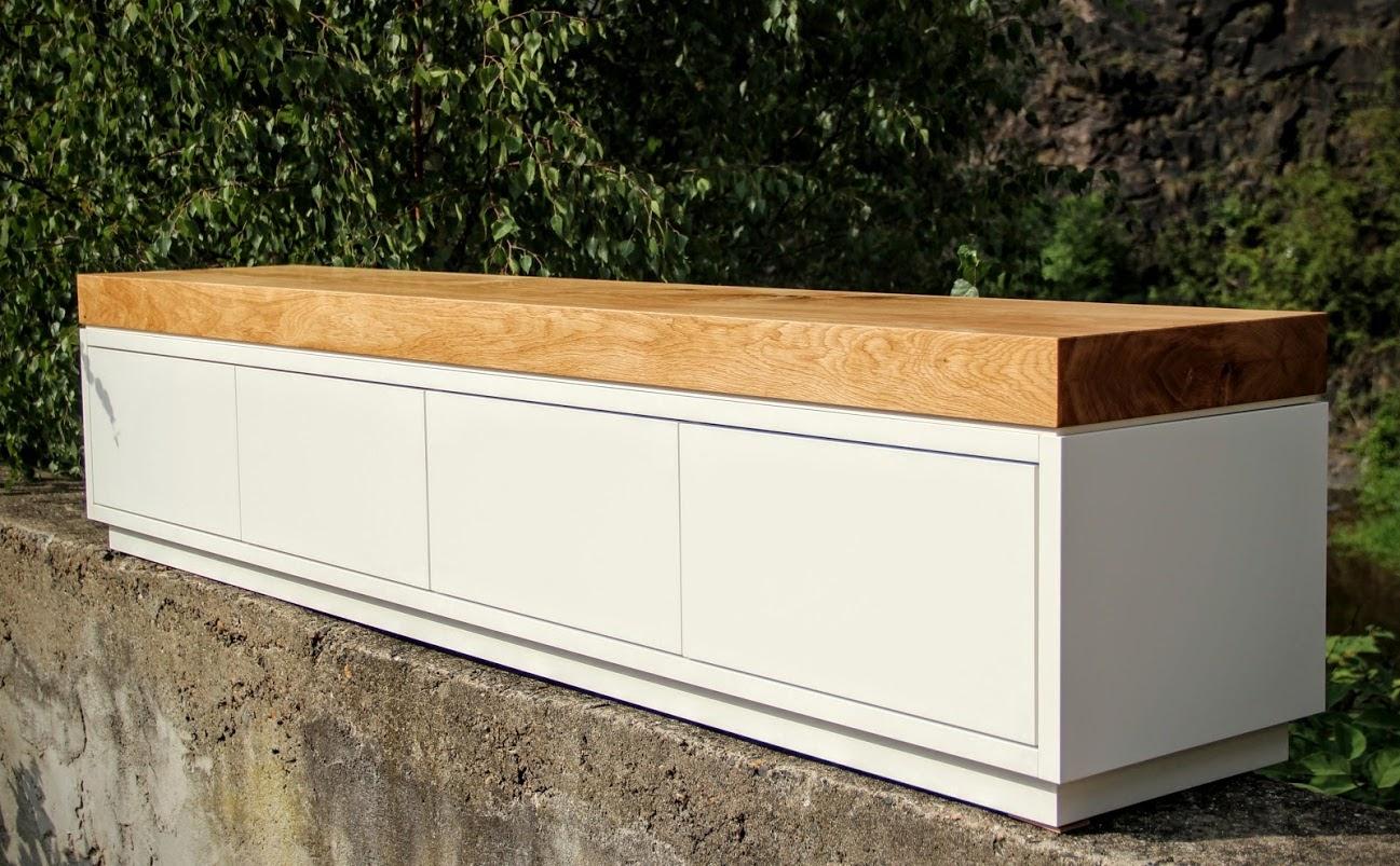 ladenbau sideboard lowboard eiche lack sinnesmagnet. Black Bedroom Furniture Sets. Home Design Ideas