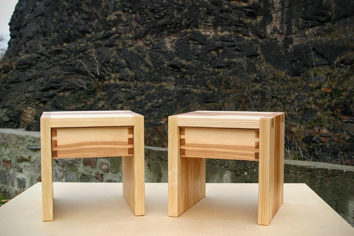 Nachttisch Aus Esche Schubkasten Mit Schwalbenschwanzzinkzung