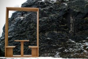 Maßgefertigter Raumteiler aus Massivholz Kaffeetisch, Leseecke Massivholz Möbel Tischlerei Sinnesmagnet Dresden