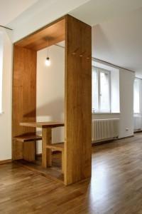 Raumtrenner Eiche Massivholz Tisch Garderobe Tischlerei Dresden