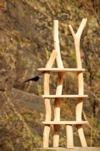 Individuelles Regal Massivholz Kernbuche Robinie