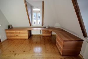 Schreibtisch Kirschholz Praxismöbel Büro Massivholz Tischlerei Dresden