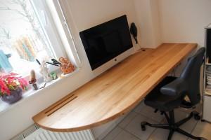 Schreibtischplatte Eiche Massivholz Praxismöbel Tischlerei Dresden