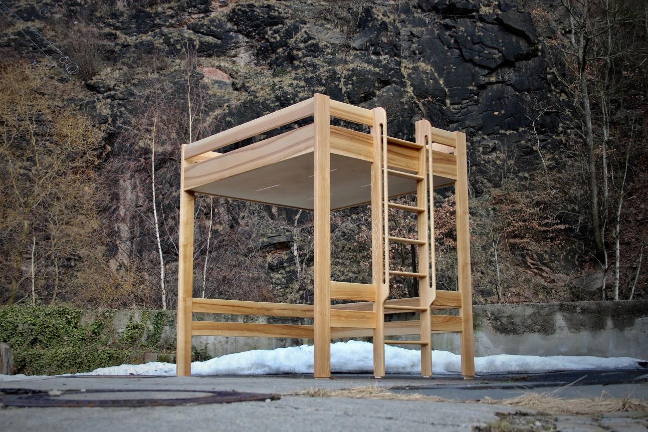 180cm breites hochbett darunter zum beispiel platz f r einen schreibtisch oder ein sofa. Black Bedroom Furniture Sets. Home Design Ideas