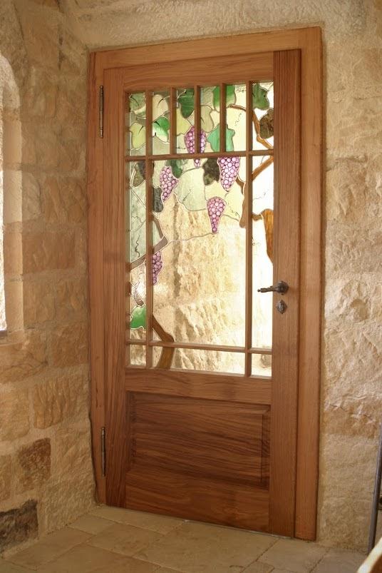 Tür aus Eiche für Weinkeller - Sinnesmagnet