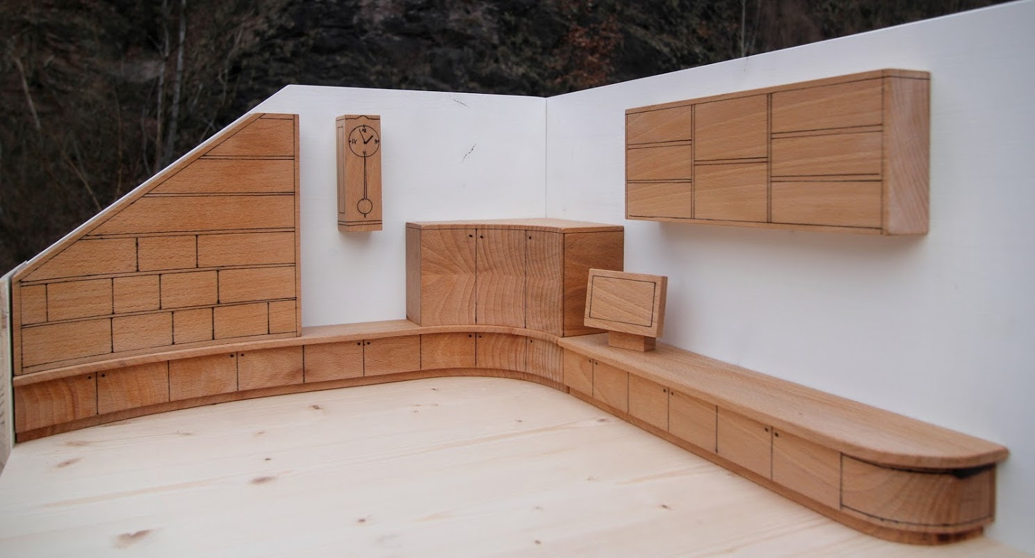 Modell für Wohnzimmer-Einbaumöbel - Sinnesmagnet