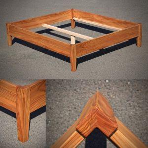 Ehe-Bett aus Rüster Massivholz Möbel Tischlerei Sinnesmagnet