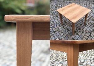 Tisch aus Eiche quadratisch Massivholz Möbel Dresden