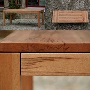 Massivholz Tisch aus Kernbuche zum Ausziehen Möbel Tischlerei Dresden