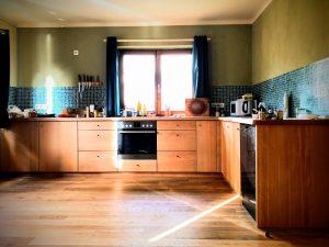 Küche aus Buche Massivholz L-Form Möbel Tischler Dresden