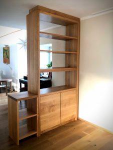 Raumteiler aus Eiche Massivholz Regal Möbel Tischlerei Dresden