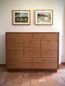 Kommode Flurmöbel Diele Möbel aus Massivholz Vollholz Möbel Dresden Tischlerei